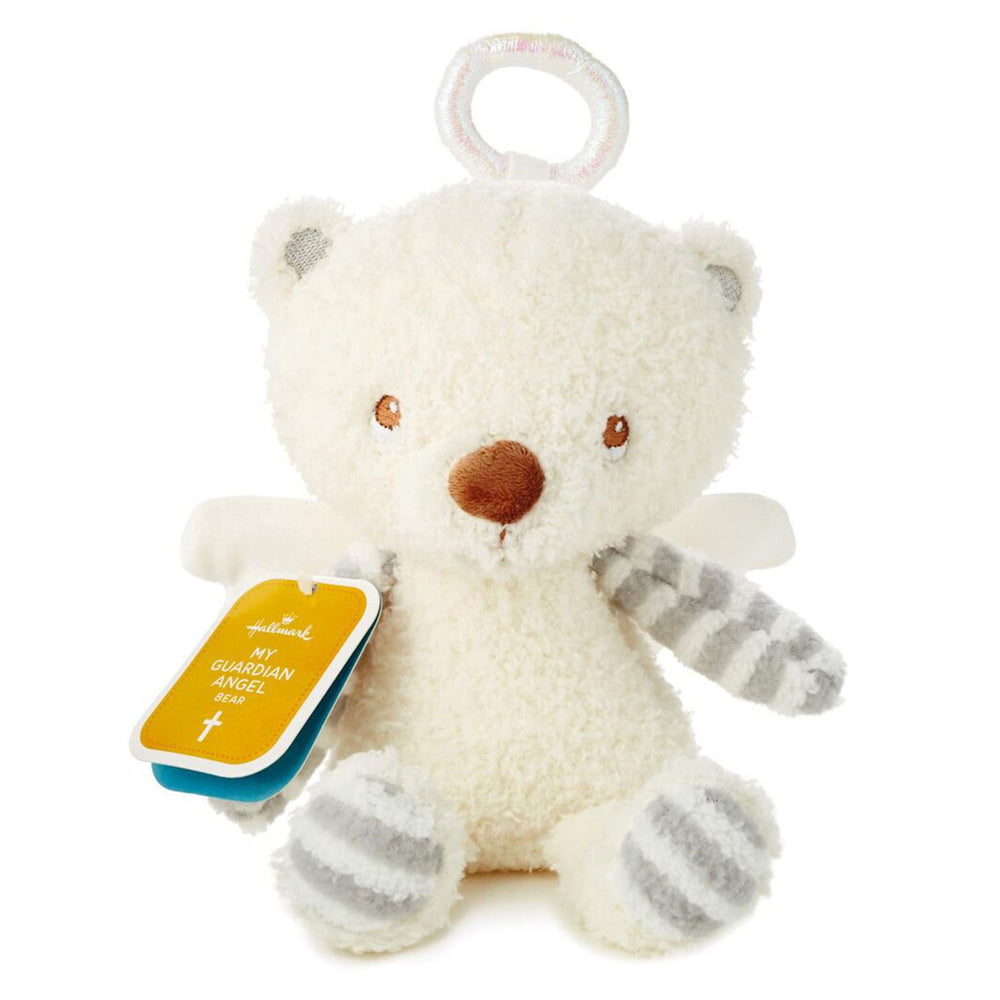 Load image into Gallery viewer, Guardian Angel Stuffed Bear, 7.75""