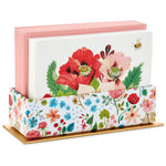 Oana Befort Assorted Floral Note Cards in Caddy, Set of 40