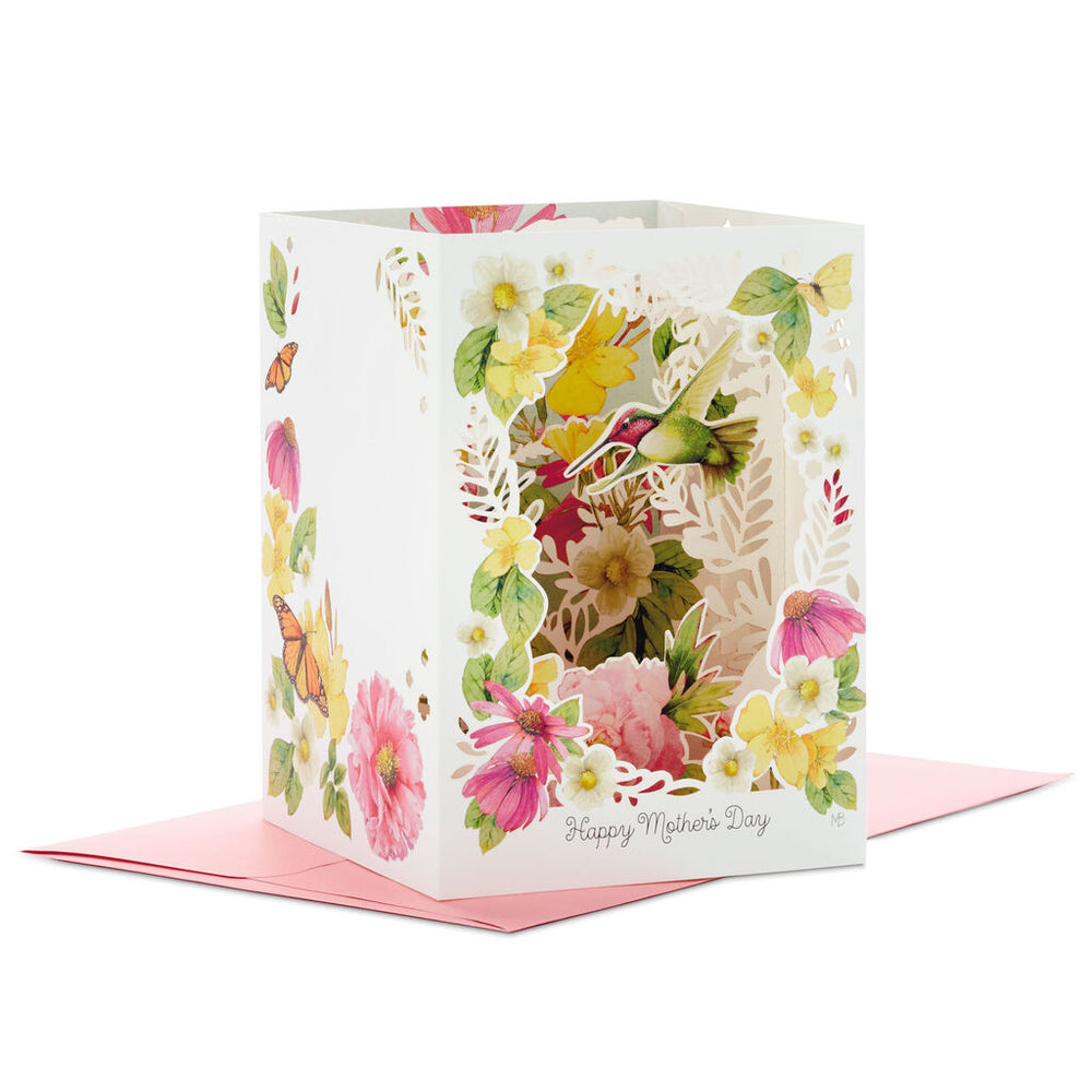 Marjolein Bastin Hummingbirds and Flowers 3D Pop-Up Mothers Day Card