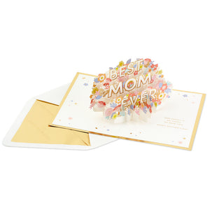 Best Mom Ever Flowers 3D Pop-Up Mother's Day Card
