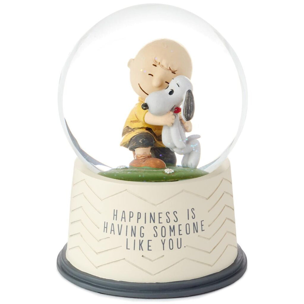 Peanuts Happiness Is Someone Like You Snow Globe