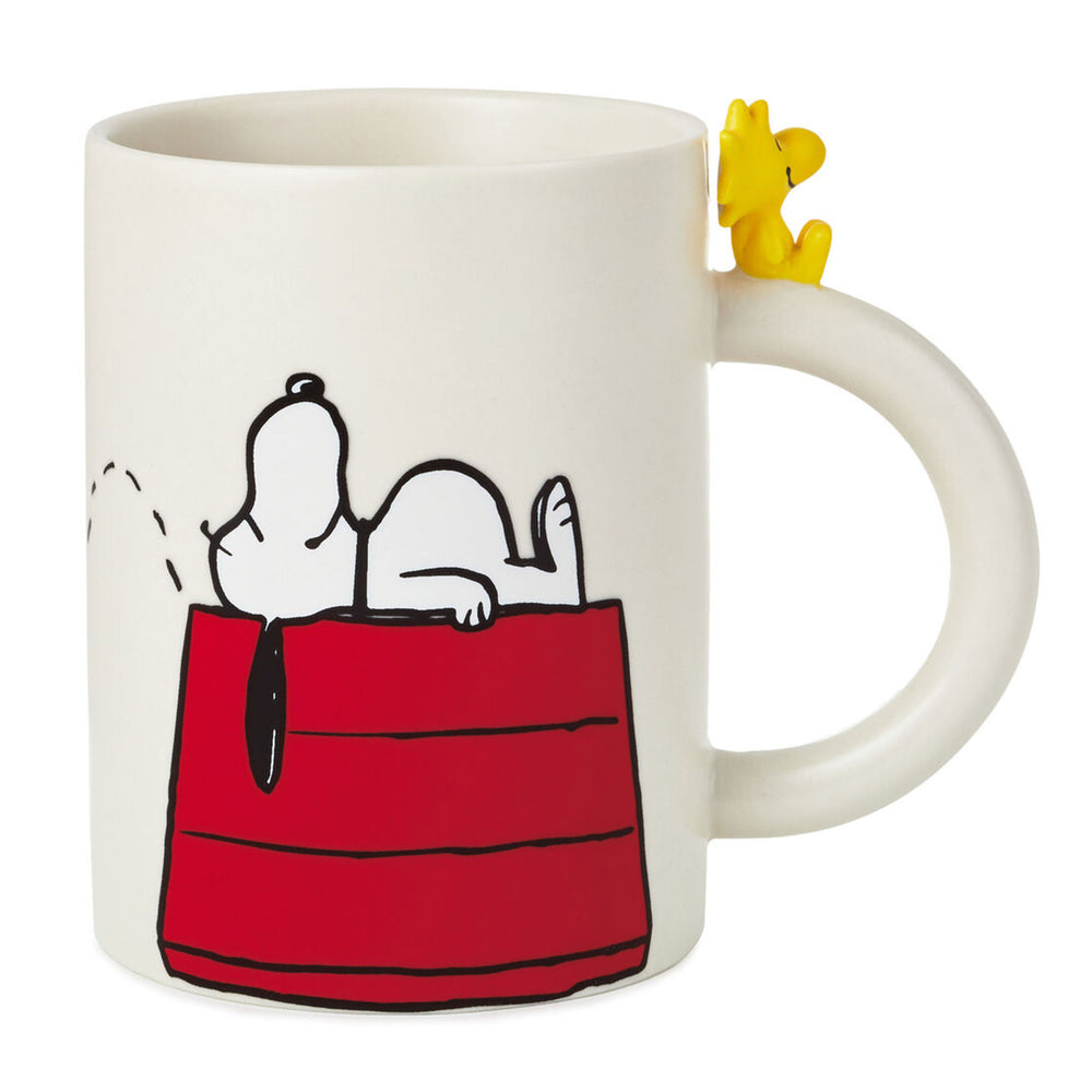 Peanuts Dimensional Snoopy and Woodstock Mug, 16.5 oz.