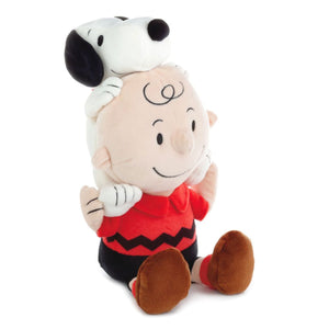 Peanuts Charlie Brown and Snoopy Together Stuffed Animal, 9""