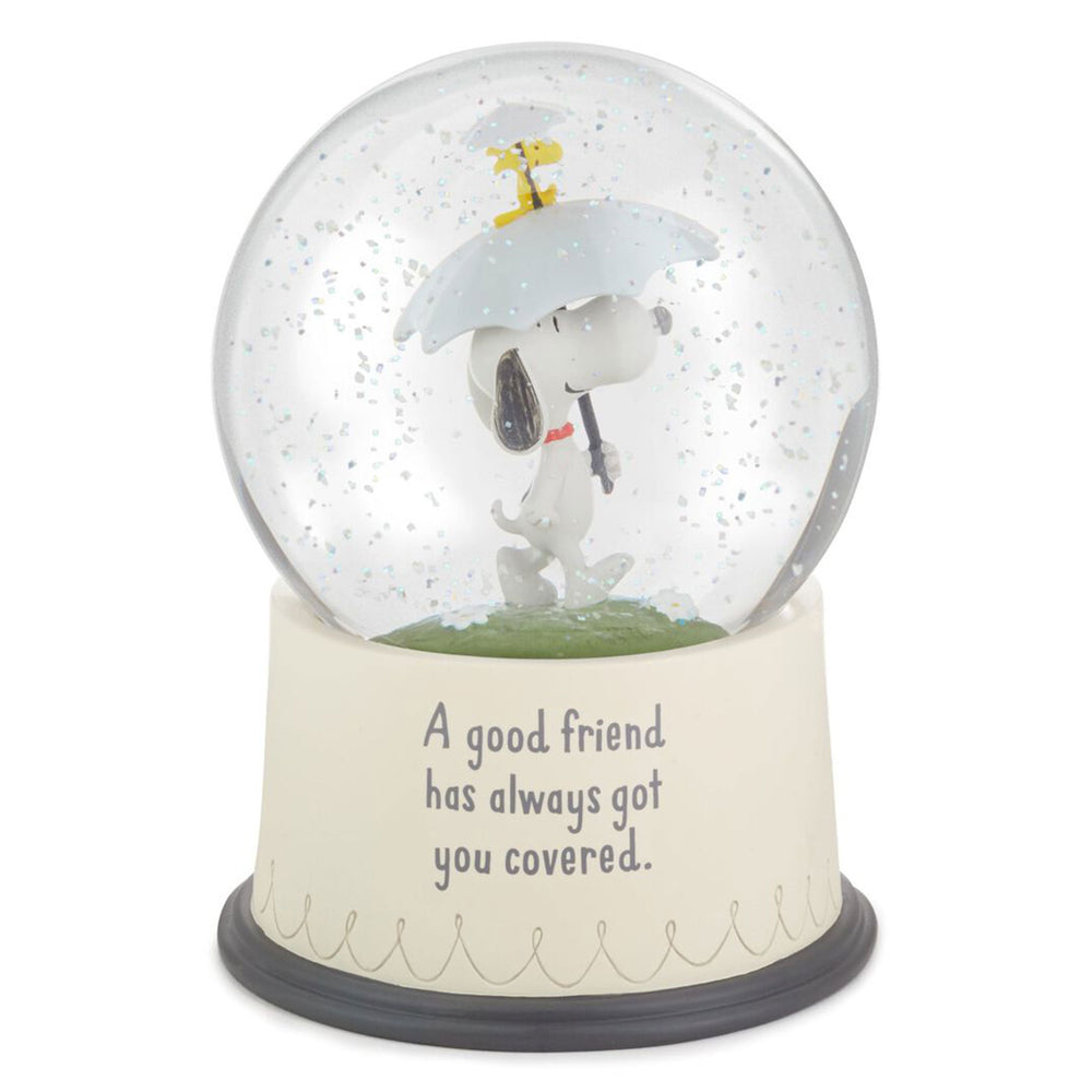 Peanuts Snoopy and Woodstock Good Friends Snow Globe
