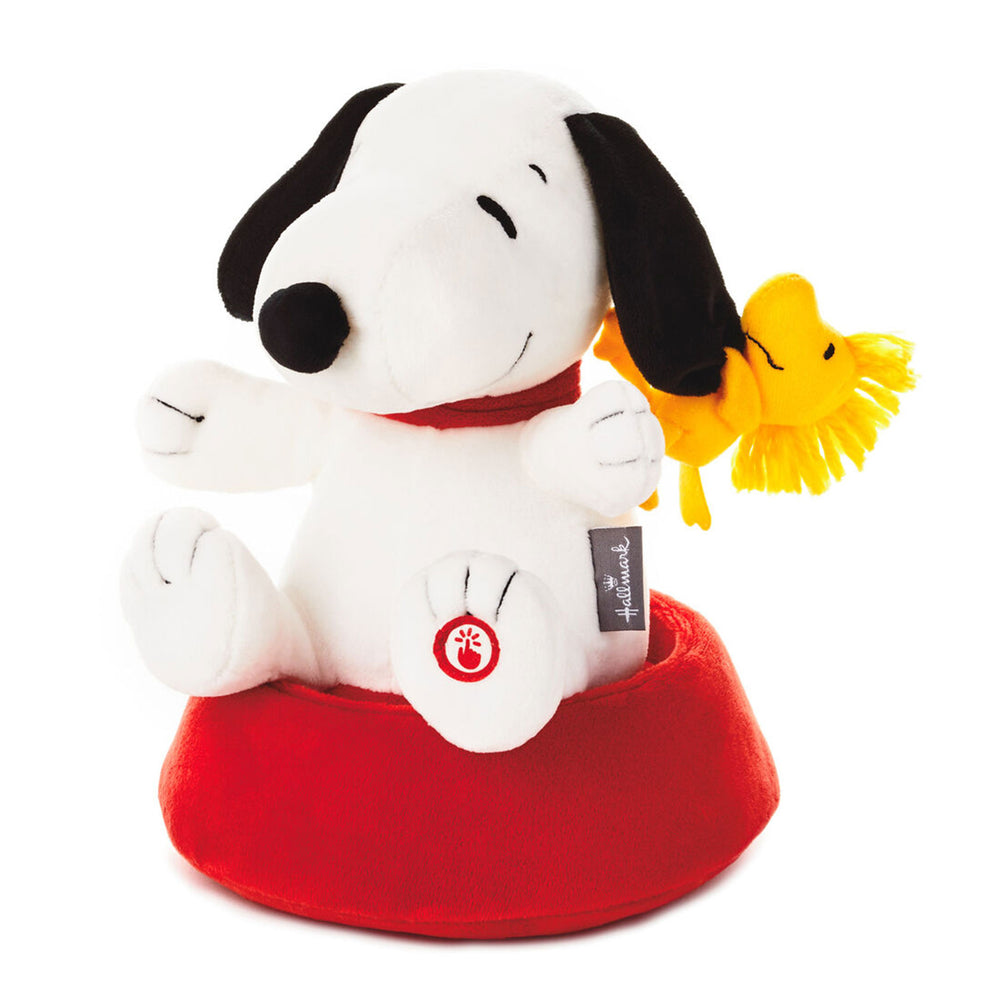 Load image into Gallery viewer, Peanuts Silly Spinning Snoopy Stuffed Animal With Sound and Motion, 9.5""