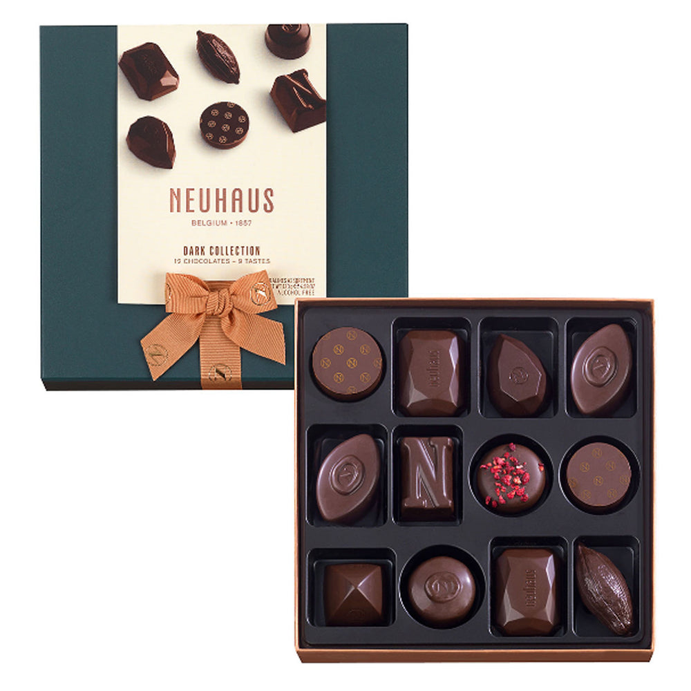 Neuhaus Belgian All Dark Chocolates, 12 pieces