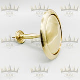 Polished Brass Solid Round Holdback