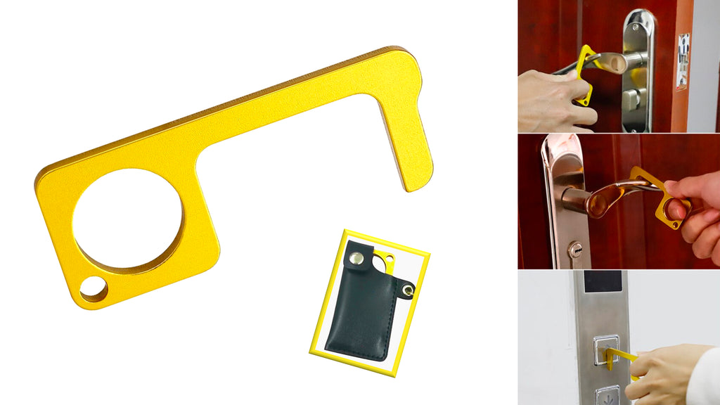 Brass Button Pressing and Door Opening Tool with Pouch