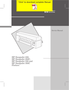 Printer Service Manual HP DesignJet 230-250c-330-350c