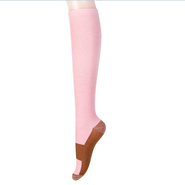 Unisex Copper Compression Socks Women Men Anti Fatigue Pain Relief Knee High Stockings 15-20 mmHg Graduated,1Yc2374