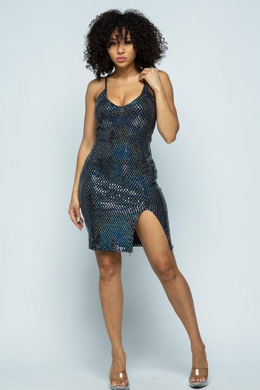 Sassy Sequin Midi Dress