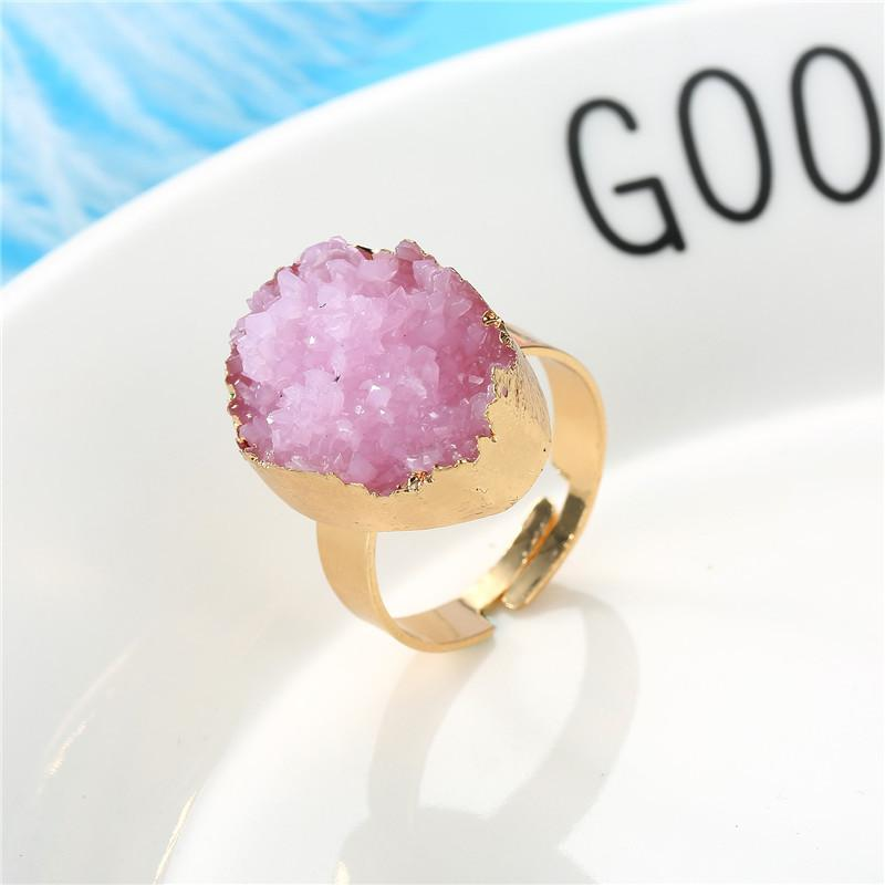 Natural Stone Resin Adjustable Ring