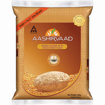 Aashirwad Wheat flour 20lb (Limit 1 per customer)