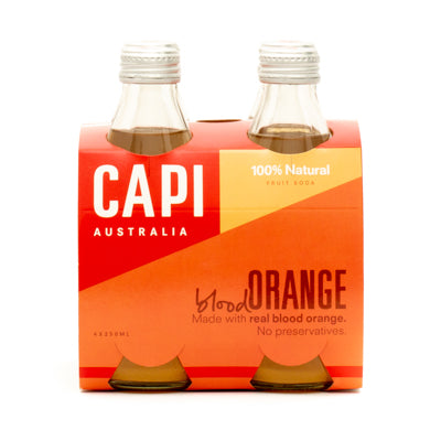 CAPI Blood Orange Soda 4 x 250ml Pack