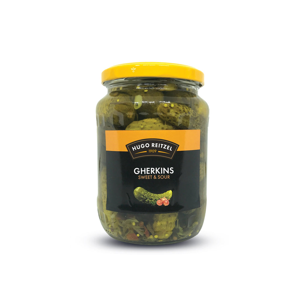 Hugo Reitzel Sweet Sour Gherkins 350g