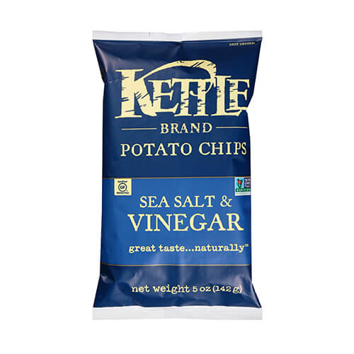 Kettle Sea Salt & Vinegar Potato Chips 142g