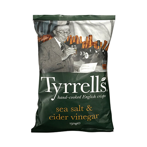 Tyrrells Sea Salt and Cider Vinegar Potato Chips 150g