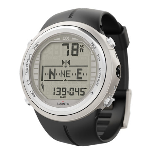 Suunto DX Silver Elastomer with USB Dive Computer