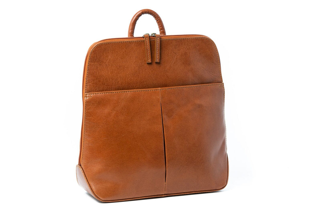 Rugged Hide Pia Leather Backpack