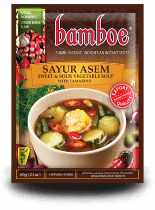 Bamboe -  Sayur Asem Indonesian Traditional Sour Vegetable Soup Spice Mix - Toko Indo NZ