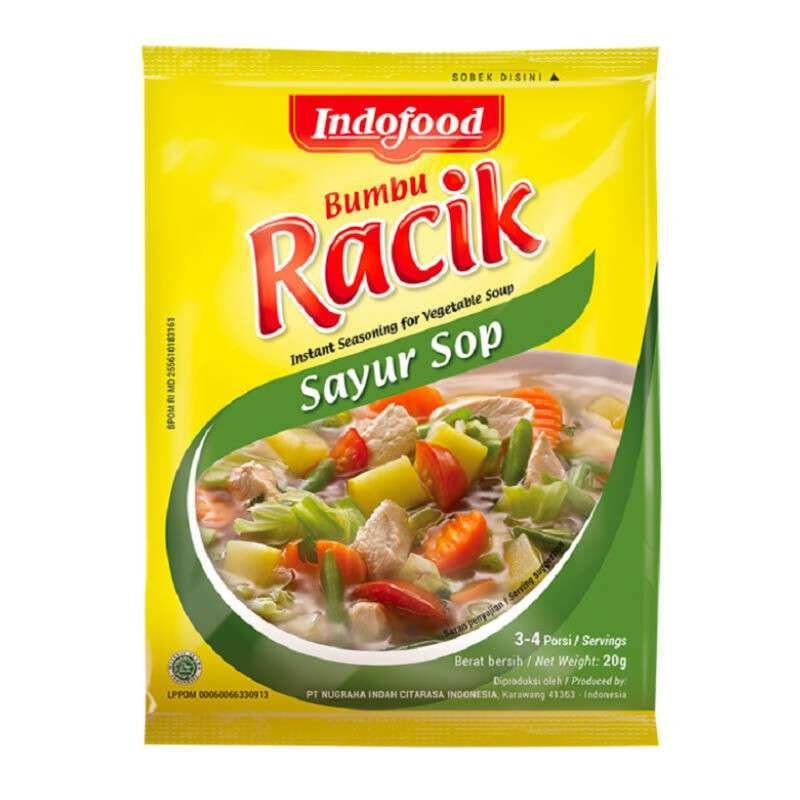 Indofood Bumbu Racik Sayur Sop Traditional Vegetable Soup Seasoning Mix - Toko Indo NZ