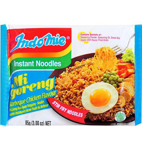 Indomie Mi Goreng BBQ Chicken Flavour Fried Instant Noodles - Toko Indo NZ