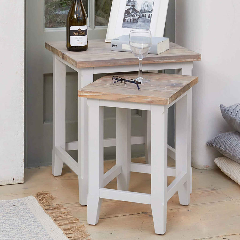 Signature Grey Nest of Two Tables - The Decor Brand