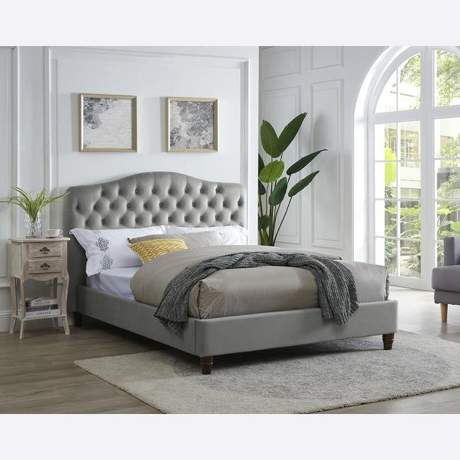 SORRENTO DOUBLE BED CAPPUCCINO - The Decor Brand