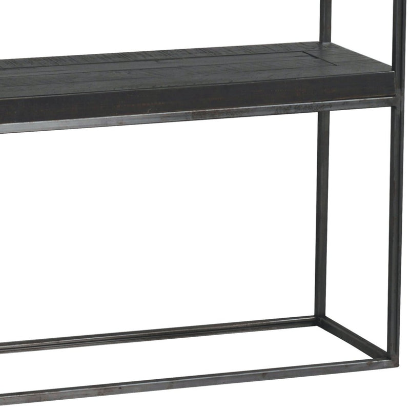 Rustic Shay Console Table In Charcoal - The Decor Brand