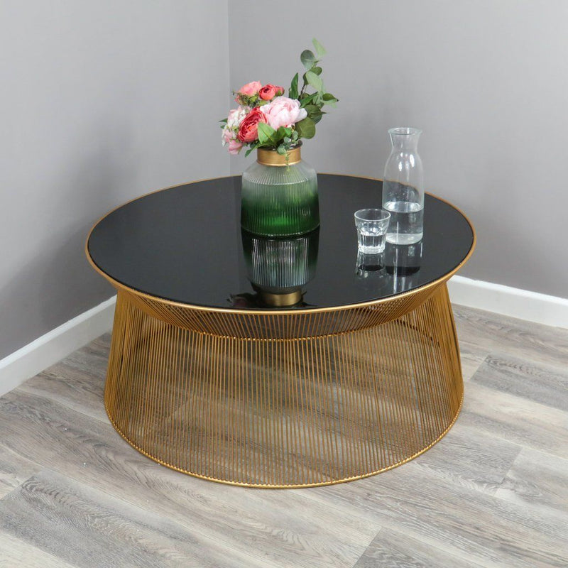 Curve Gold & Black Coffee Table