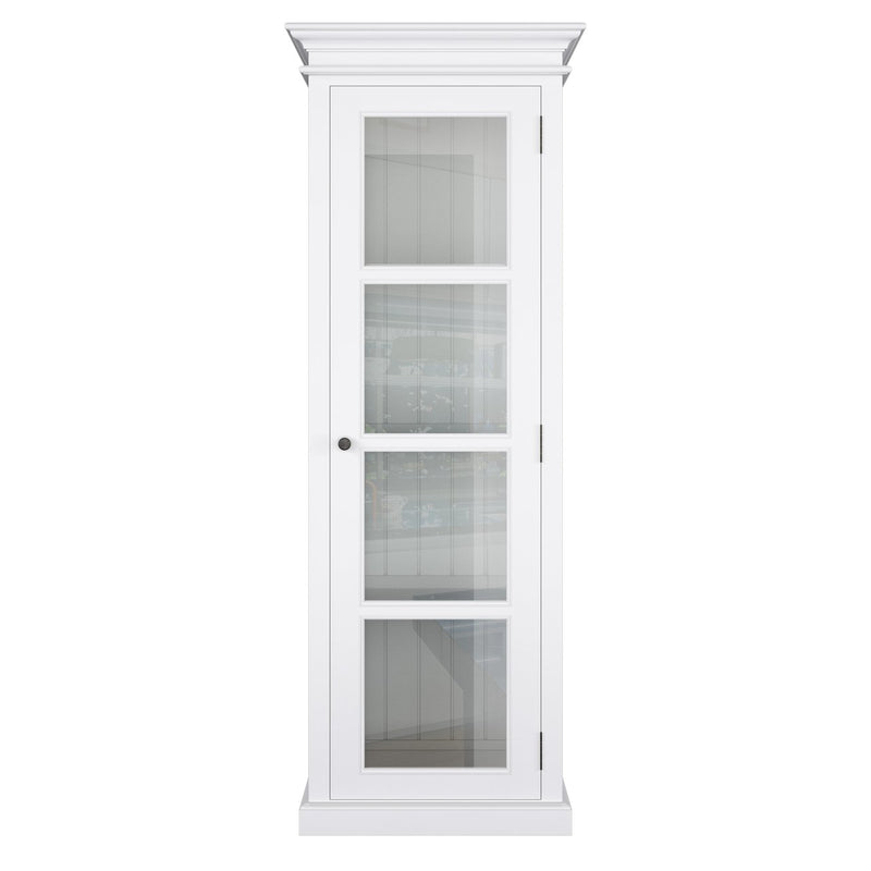 Halifax White Single Vitrine