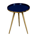 Side Table Blue Enamel Tray - The Decor Brand