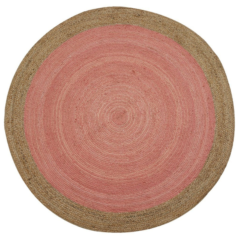 Milano Soft Jute Rug with Pale Pink Centre - The Decor Brand