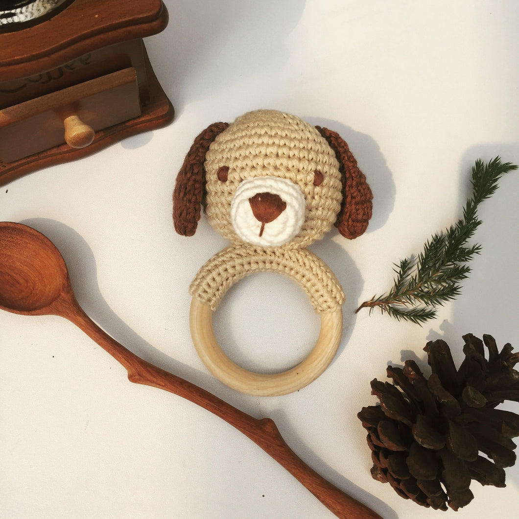 Rattle and Teether - Dog