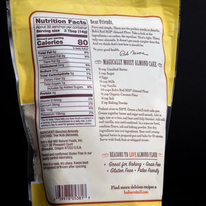 Bob's Red Mill Almond Flour in Pouch back label
