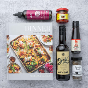 DINNER COOKBOOK + PANTRY ESSENTIALS