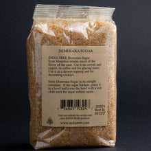 Load image into Gallery viewer, Indian Tree Demerara Sugar, 1lb in cellophane bag back label