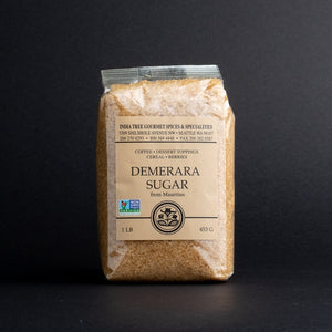 Indian Tree Demerara Sugar, 1lb in cellophane bag
