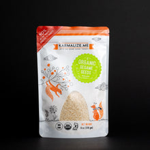 Load image into Gallery viewer, Karmalize.me Organic Sesame Seeds in Stand up pouch