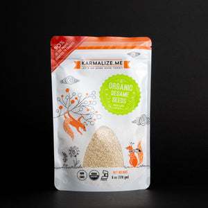 Karmalize.me Organic Sesame Seeds in Stand up pouch