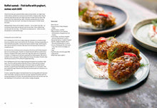 Load image into Gallery viewer, Koftet Samak Fish Kofta recipe spread from Falastin cookbook