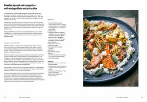 Roasted Squash and Courgette recipe spread from Falastin cookbook