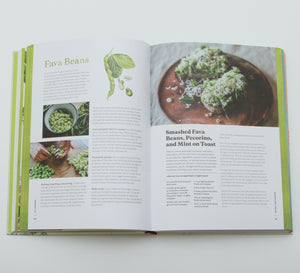 Cookbook Interior page spread from Six Seasons