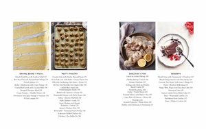 Table of Contents from Small Victories cookbook