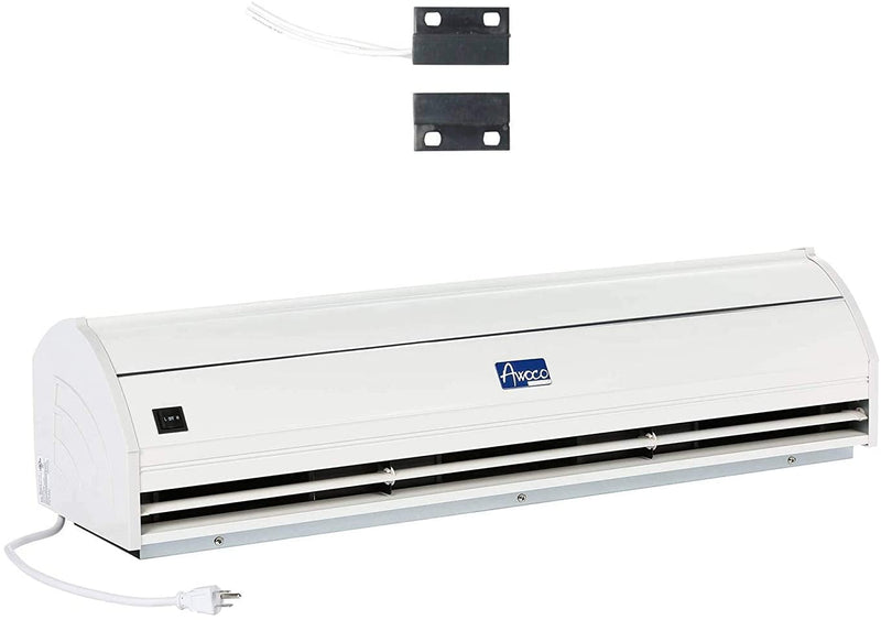 "Awoco 42"" Elegant 1 Speed 1000 CFM Indoor Air Curtain, ETL & UL Certified to Meet NSF 37 Food Service Standard"