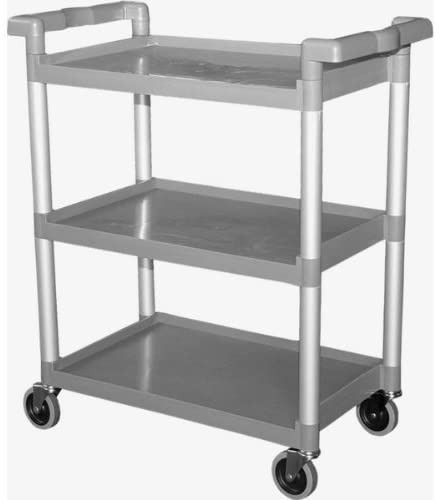 "GSW Functional Plastic Utility Bus Cart, 19-1/2"" x 41"" x 45-1/2"""
