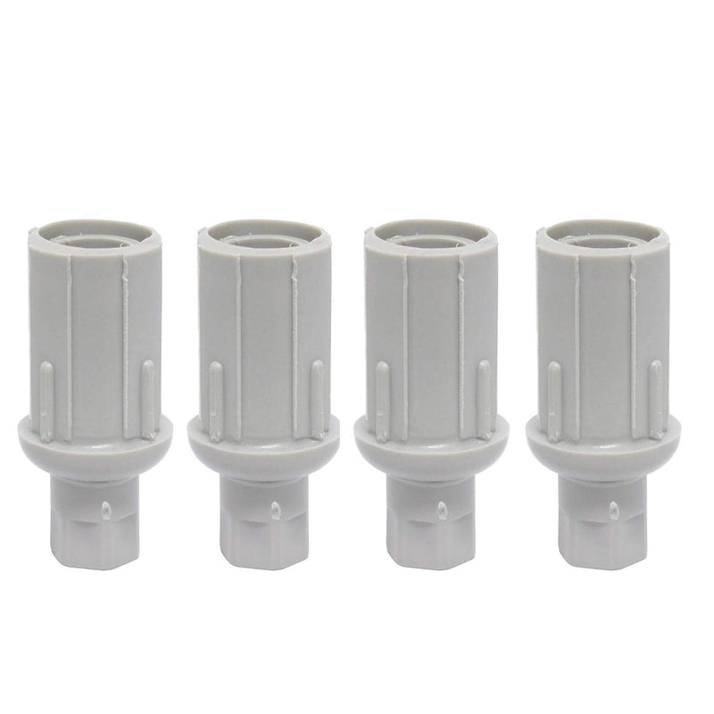 "Leyso FT-P3 Set of 4 Plastic Bullet Foot 1"" Adjustable for Stainless Steel 1-⅝"" O.D. Tubing (Plastic)"
