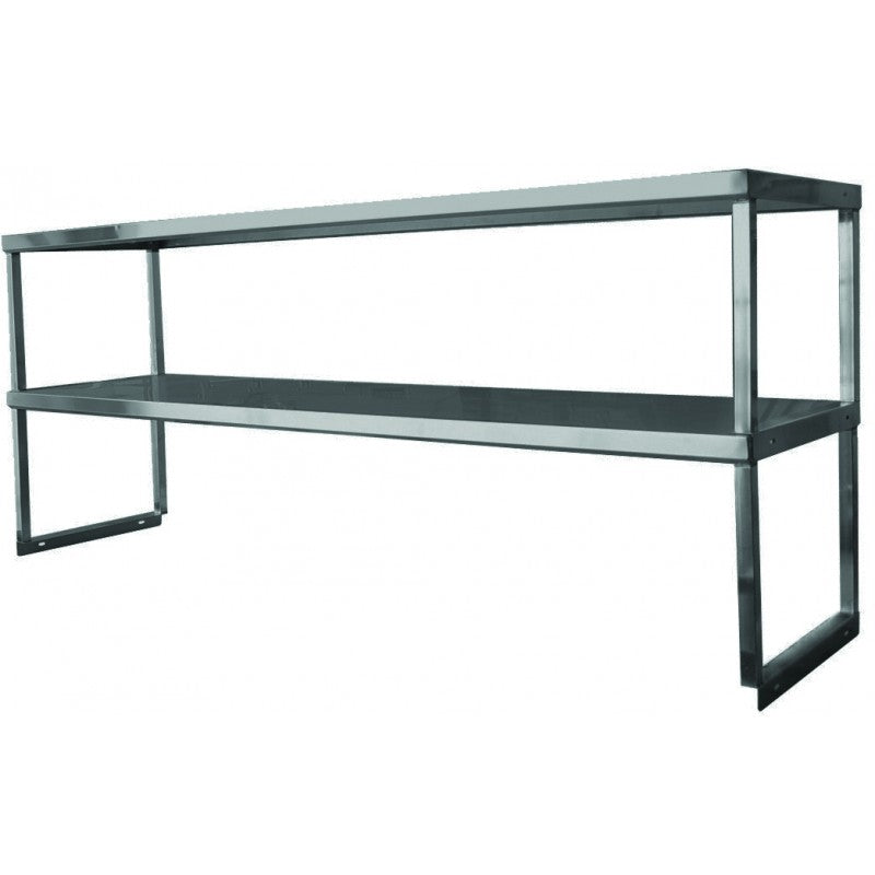 "GSW DS-1648 Stainless Steel Heavy Duty Standard Double Over Shelf (16""D x 48""W x 30""H)"