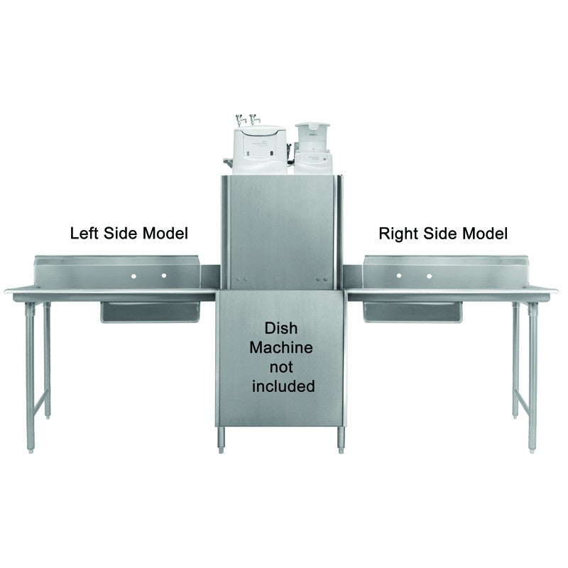"GSW Stainless Steel Soiled Dish Table 24""Lx 30""W Right Side NSF Approved"