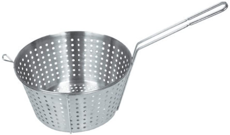 "GSW STR-A11 Stainless Steel Round Vegetable Basket with A Hook (17""L x 11""W x 7""H)"